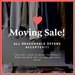 MOVING SALE! 25% OFF BUNDLES OF 2+ ITEMS